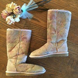 UGG fleece lined boots. Size 6